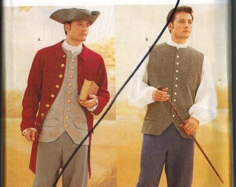 Mens Sewing Pattern Butterick 3072 Sizes 44-46-48 Costumes Colonial OOP