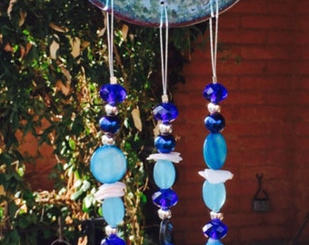 Ocean Blue Windchime with Seahorse