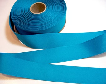 Blue Ribbon,  Blue Teal Grosgrain Ribbon 1 1/2 inches wide x 50 Yards, Offray Sapphire Ribbon