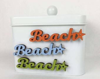 Beach Fridge Magnet, Beach House Decor, Beach Lovers Gift, Summerhouse Magnet, Sayings Magnet