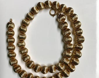 """14K Yellow Gold 15"""" Bead Necklace (23.4 grams)"""