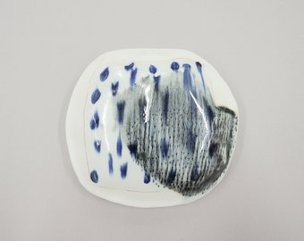 abstract porcelain wall pillow