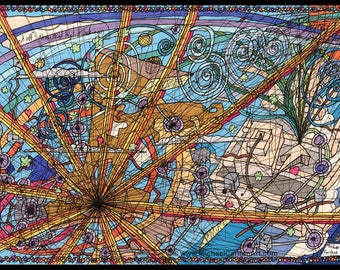 Up in the Sky - A4 Giclee Print by Michael Carlton