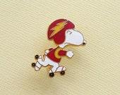 Aviva Vintage Snoopy Rollerskate Roller Derby Pin 1088