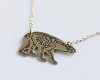 Bear Necklace - Mama Bear - Animal Necklace - Polar Bear - California Bear - California Necklace - Bear Skeleton - Bear Jewelry Totem