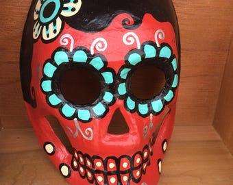 Day of the Dead Paper Mache decorative mask - female