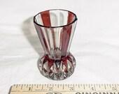 Vintage Ruby Flash Glass Toothpick Holder