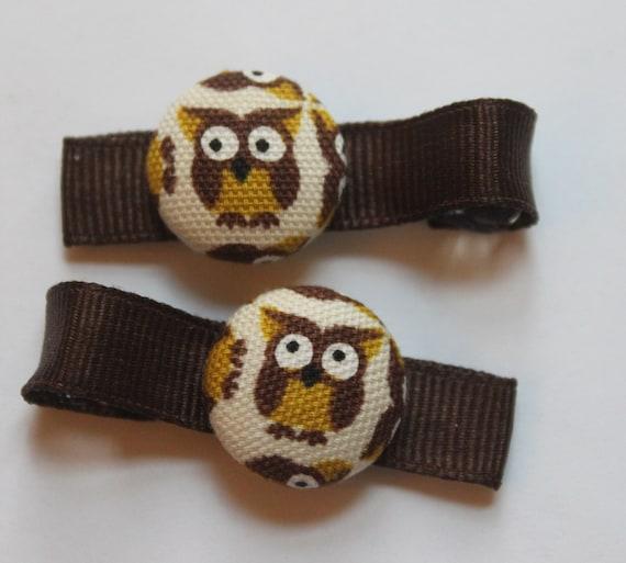 Owls..... Hair Clips