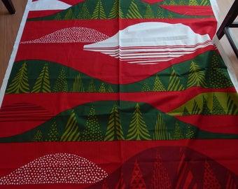 marimekko fabric, christmas fabric, cotton print, sanna anuka