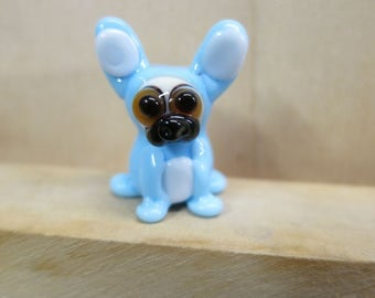 Fawn Pug in a Bunny Suit Lampwork Dog Bead