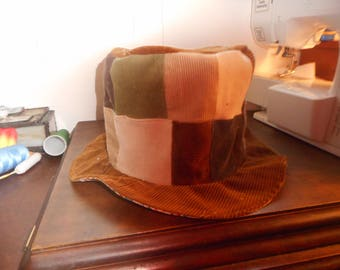 Personallized Patchwork Corduroy Mad Hatters Hat