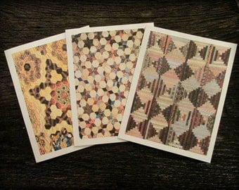 Antique Quilt Notecards BLANK - FREE SHIPPING