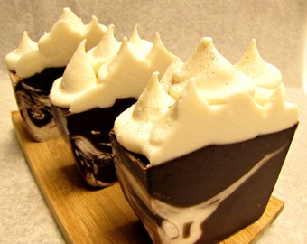 Santa's Hot Cocoa - Handmade Artisan Soap with Rice Bran & Avocado Oils, Gourmet Soap, Soothing Suds Handmade Soap
