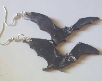 Bat earrings, Bat, Bat jewelry, Goth, Gothic, Gifts for her, Goth girl, MsFormaldehyde, Horror, horror movie, Pinup, Rockabilly