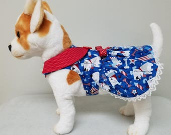 Dog Clothes Patriotic Dress, Chihuahua, Yorkie