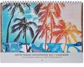 NEW 2017 CALENDAR, Artist Susan Wickstrand, All Color images of Orig. Collages, perfect gift, travel, Hawaii, tropical, ocean, love, Aloha