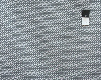 SALE Quilters Showcase Stacked Triangles Gray Cotton Quilting Fabric By Yard