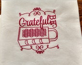Addition Be Grateful towel in black for maryjmary