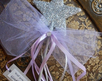 Lavender Will You Be MY Godmother? Wand