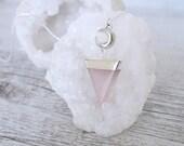 Shapeshifter Necklace in Rose Quartz