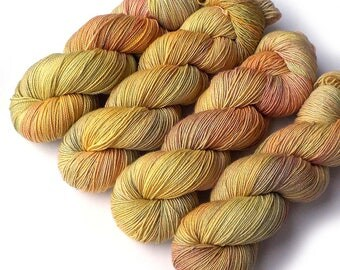 Hand Dyed Yarn Stella Handdyed Superwash Merino Sock Yarn Sparkle Delicata