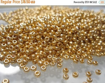 75% Off Miyuki Seed Beads, 50 grams Metallic Bright Gold Miyuki Seed Beads Size 11/0 No 15A