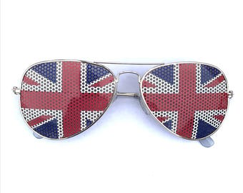 british flag union jack united kingdom graphic aviaator sunglasses