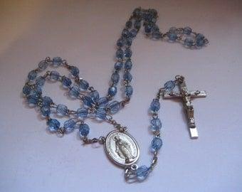 Vintage Light Blue Rosary