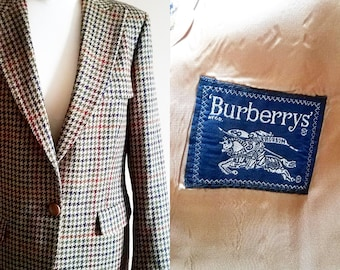Ladies BURBERRY Houndstooth Blazer in Fall Colors