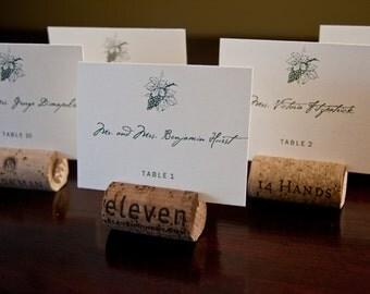 Vineyard Winery Wedding Place Cards Deposit