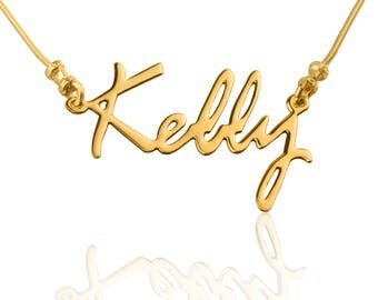 Name Necklace - Gold Name Necklace - Personalized Necklace - Custom Name Necklace - Bridesmaid Gift Idea