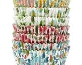 Liberty Cupcake Liners 100, Liberty of London, Meri Meri, Floral Baking Cups, Liberty Cupcake Wrappers