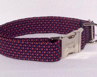 Patriot - Stylish Patriotic Dog Collar by Swanky Pet!