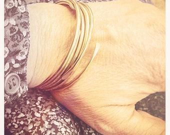 Set of five Bonnie Bracelets in solid 10K