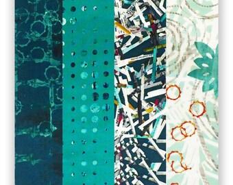 RJR Fabrics Pre-Cut 24 Block Rail Fence Quilt Kit - Urban Artifacts