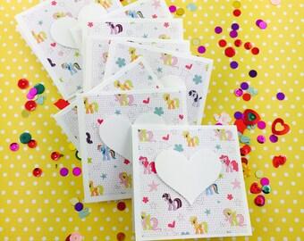 My Little Pony Mini Heart Cards