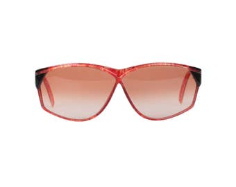 Y - RIVE GAUCHE Vintage Mint Red OversizedSunglasses RG 114 col 846/4