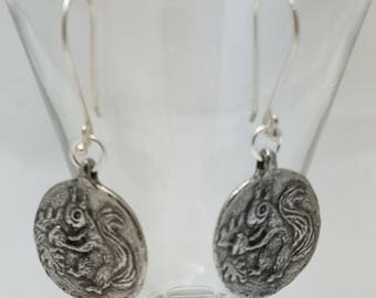 Green Girl Studio Seek and You Shall Find Squirrel and Nut Earrings