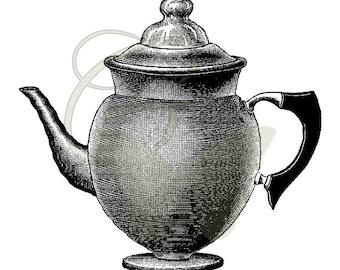 Printable Coffee Pot Clip Art Crafting Digital Vintage Kitchen Image Illustration Download