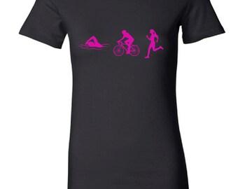 Women's triathlon t-shirt - MORE COLORS AVAILABLE