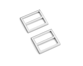 "30pcs - 1"" (25mm) Flat Diecast Slide Buckle - Nickel - (FBK-108) - Free Shipping"