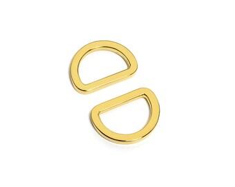 "10pcs - 3/4"" (20mm) Flat Zinc D-Ring - Gold - (FDR-105) - Free Shipping"