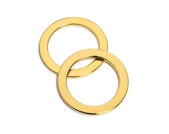 "10pcs - 1 1/2"" (38mm) Flat Zinc O-Ring - Gold - (FOR-117) - Free Shipping"