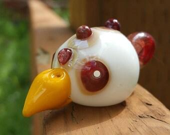 Glass Chicken Head Pendant