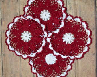 Crochet Coasters-Pack of 4