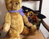 """Gorgeous George ~ A cuddly English """"Farnell""""  Vintage Jointed 1940's Teddy Bear ~Golden Plush ~ 20"""""""