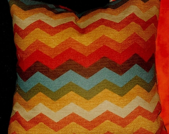 Decorator,toss,throw pillow cover, chevron multi, 18x18 and other sizes, FREE SHIP.