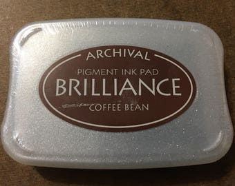 Tsukineko Archival Brilliance Ink Pad Coffee Bean