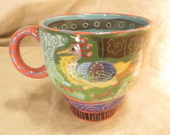 Bird Mug Marvelous Folkloric