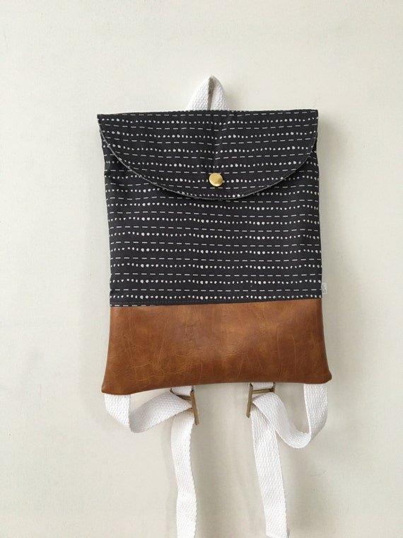 Charcoal Dotted Lines Backpack